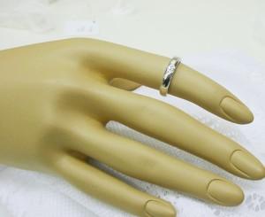高品質【ペア価格:結婚指輪】ハート ダイヤモンド入り プラチナ900 文字刻印無料 ケース付き