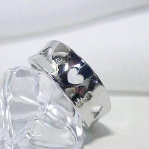 透かしハートが可愛いリング(K18WG)