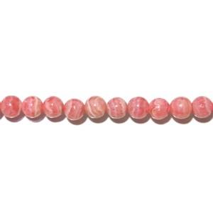 【インカローズ】 6mm玉・丸ビーズ 5玉セット /つぶ売り 粒 天然石 パワーストーン ばら売り