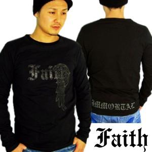 【送料無料】faith connexion フェイスコネクション ロンT 長袖Tシャツ 【Faith Connexion】/ レザー / ブラック