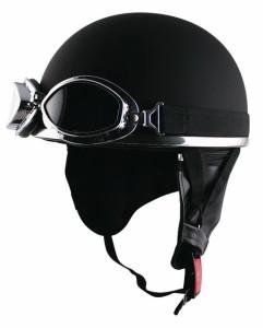 深くかぶれるからキマる☆ゴーグル&イヤーカバー付きビンテージハーフヘルメット ☆ SPEED PIT (スピードピット) CL-950DX /バイク用