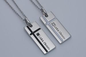 ペアネックレス シルバー セット シンプル カップル メンズ  レディース人気ブランド LARA ChristieノーブルクロスP3051-P/13,176円