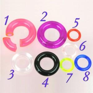 【メール便 送料無料】UVアクリル スムースセグメントリング 2GA(6mm)Uv Smooth Segment Ring【ボディピアス/ボディーピアス】 ┃