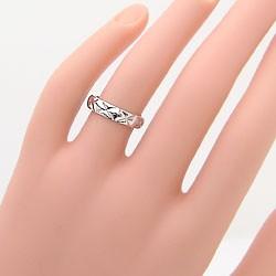 ペアリング キルティング デザイン 結婚指輪 マリッジリング  ジュエリーショップ ホワイトゴールドK18