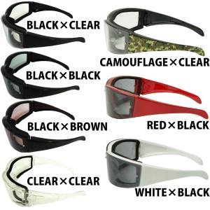 バイカーに人気! ブラック ゴーグル サングラス メンズ サングラス 黒ぶち眼鏡 花粉症対策にも!