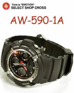 CASIO カシオ G-SHOCK Gショック メンズ 腕時計 海外モデル AW-590-1ADR ブラック 黒 アナデジ