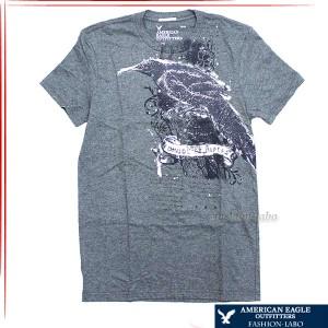 [あす着]アメリカンイーグル AMERICAN EAGLE メンズ Tシャツ ティーシャツ 半袖 半そで グレー ブランド 鳥 バード  0162-029