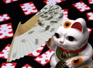紳士用紙扇子◆小判柄(約22センチ)◆京扇子