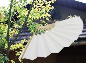 【扇子】紳士白扇☆9寸(約27センチ)☆京扇子