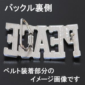 【メール便 送料無料】ベルト バックル AC/DC ヘビーメタルバンド 白 赤 黒 【ホワイト/ブラック/レッド/buc-00344】 ┃