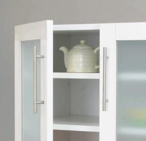 【代引き不可】送料無料!売れてます!清涼感溢れる食器棚 カトレア