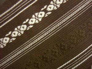 浴衣&着物に 簡単粋な男物男性ワンタッチ結び角帯献上柄茶(日本製)