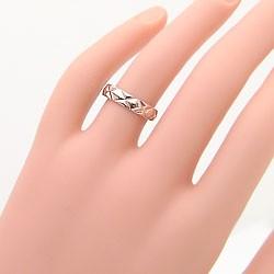 ペアリング 指輪 2本セット 送料込 ピンクゴールドK18 18金 マリッジリング ゴールド