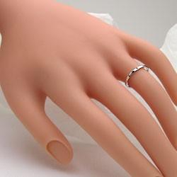 シンプル ストレート 一粒 ダイヤリング ホワイトゴールドK10 指輪 K10WG ピンキーリング ダイヤモンド 0.01ct 究極diaring