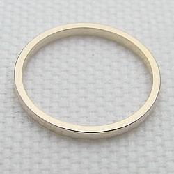 シンプルリング ストレートリング 平甲地金 イエローゴールドK18 指輪 18金 ピンキーリング メタルリング 究極ring