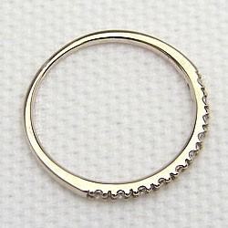 エタニティリング ダイヤモンドリング ダイヤリング イエローゴールドK18 指輪 18金 ピンキーリング 10石 0.10ct 送料無料 究極diaring