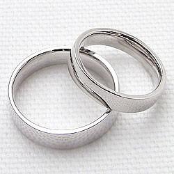 結婚指輪 プラチナ ペアリング 平打ち 幅広 マリッジリング 2本セット Pt900