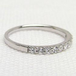 エタニティリング ダイヤリング ホワイトゴールドK10 指輪 10金 ピンキーリング 天然ダイヤモンド 0.20ct 送料無料 diaring