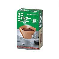 【珈琲豆エコフィルターペーパー1×1】100枚メリタ/コーヒー豆
