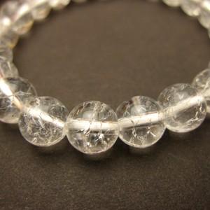 天然石 8mmクラック水晶(レインボー水晶)パワーストーンブレスレット(tantai natural stone bracelet)