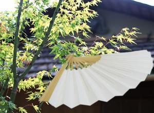【扇子】紳士白扇☆7寸(約21.5センチ)☆京扇子