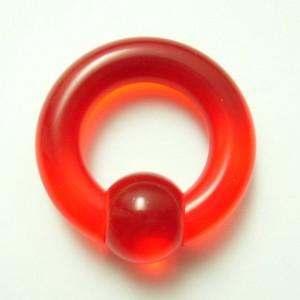 【メール便 送料無料】UVアクリル キャプティブビーズリング 0ゲージ(8ミリ)カラー【ボディーピアス】ボディピアス 0GA(8mm) ┃