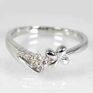 【お届け3週間】ピンキーリング:お花にダイヤが愛らしい★K10ピンクゴールド 送料無料