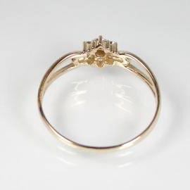 細身ダイヤモンドリング:K18ピンクゴールド