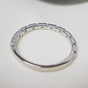 お届け2週間【ペアリング:セット価格】K10WG ホワイトゴールドリング マリッジ 結婚指輪