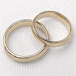 ペアリング 結婚指輪 マリッジリング イエローゴールドK18 キルティング 指輪 2本セット 送料無料