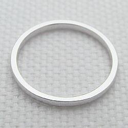 プラチナ シンプルリング ストレートリング Pt900 平甲地金指輪 ピンキーリング メタルリング 究極ring