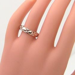 ペアリング 結婚指輪 マリッジリング イエローゴールドK10 キルティング 指輪 2本セット 送料無料
