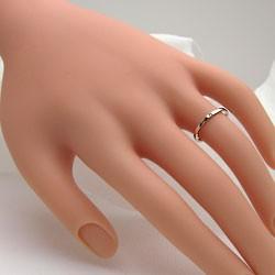 シンプル ストレート 一粒 ダイヤリング イエローゴールドK10 指輪 K10YG ピンキーリング ダイヤモンド 0.01ct 究極diaring
