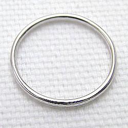 シンプル ストレートリング ホワイトゴールドK10 丸線地金 指輪 10金 ピンキーリング メタルリング 究極ring