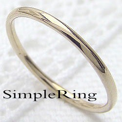 シンプル ストレートリング イエローゴールドK10 丸線地金 指輪 10金 ピンキーリング メタルリング 究極ring