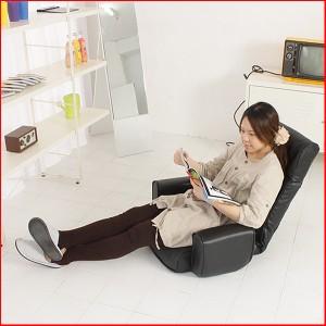 【大人気】低反発 14段階 リクライニング 座椅子 m090083