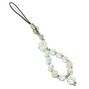水晶(クリスタル)の薔薇☆カット水晶・ローズクォーツ 天然石トラップ パワーストーン ピンク