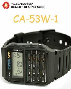 カシオ 腕時計 カリキュレーター スタンダード CA-53W-1ZD ブラック