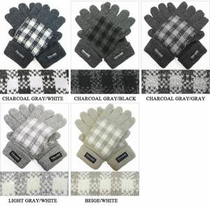 手袋/メンズ/紳士ニット手袋◆バッファローチェック柄
