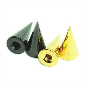 メール便送料無料 ボディピアス ステンレス スパイク パーツ カラー 14GA(1.6mm) 4/8mm Anodized加工 ボディーピアス ┃