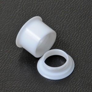 【メール便 送料無料】UVアクリル ダブルフレア 4GA(5mm)アイレット ねじ式脱着タイプ【ボディーピアス/ボディピアス】4ゲージ(5ミリ) ┃