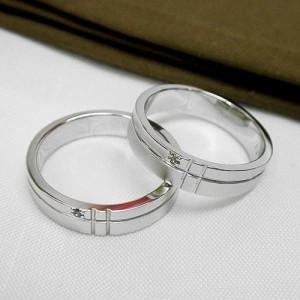 名前入れ無料【送料無料】小さなダイヤ入りSILVERペアリング:6号から30号 sale1129