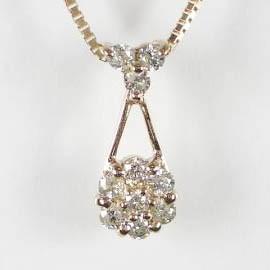 K18ホワイトゴールドダイヤモンドペンダントネックレス/K18WG/K18ピンクゴールド