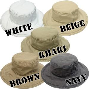 帽子 レディース 帽子 帽子 ハット ぼうし つば広 日除け シンプル コットンハット ポケッタブル 持ち運びOK