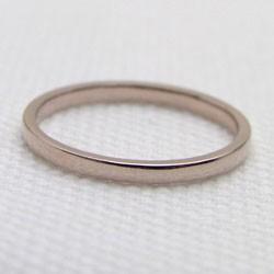シンプルリング ストレートリング 平甲地金 ピンクゴールドK18 指輪 18金 ピンキーリング メタルリング 究極ring