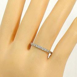 エタニティリング プラチナ ダイヤリング 指輪 Pt900 ピンキーリング 天然ダイヤモンド 0.20ct 送料無料 diaring