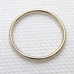 シンプル ストレートリング イエローゴールドK18 丸線地金 指輪 18金 ピンキーリング メタルリング 究極ring