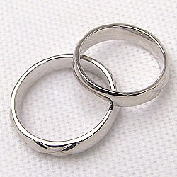 ペアリング 結婚指輪 マリッジリング ホワイトゴールドK10 キルティング 指輪 2本セット 送料無料