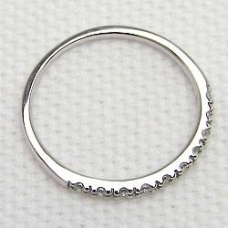 エタニティリング ダイヤリング ホワイトゴールドK18 指輪 18金 ピンキーリング 天然ダイヤモンド0.10ct 送料無料/究極diaring