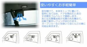 【AUTO COOL 車用 ソーラーファン】自動車 冷却ファン、車 冷却ファン、自動車 ソーラーファン、車 ソーラーファン